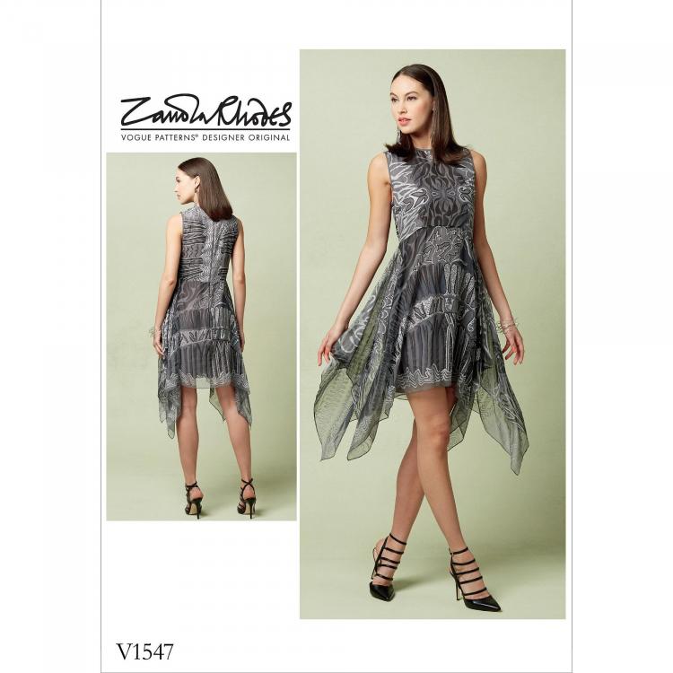 Schnittmuster Vogue 1547 Designer Kleid | Stoffe Hemmers