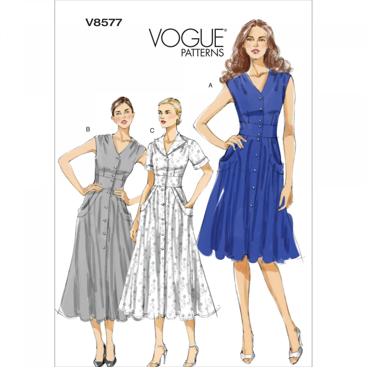Schnittmuster Vogue 8577 Kleid | Stoffe Hemmers