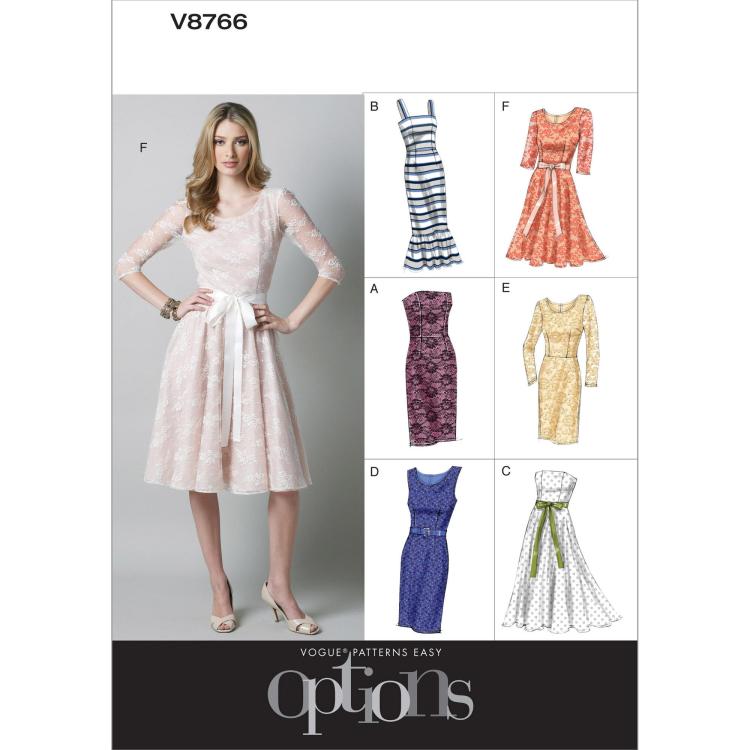 Schnittmuster Vogue 8766 Kleid | Stoffe Hemmers