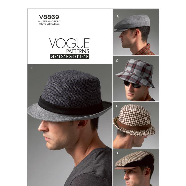 Schnittmuster Vogue 8869 Hüte OSZ | Stoffe Hemmers