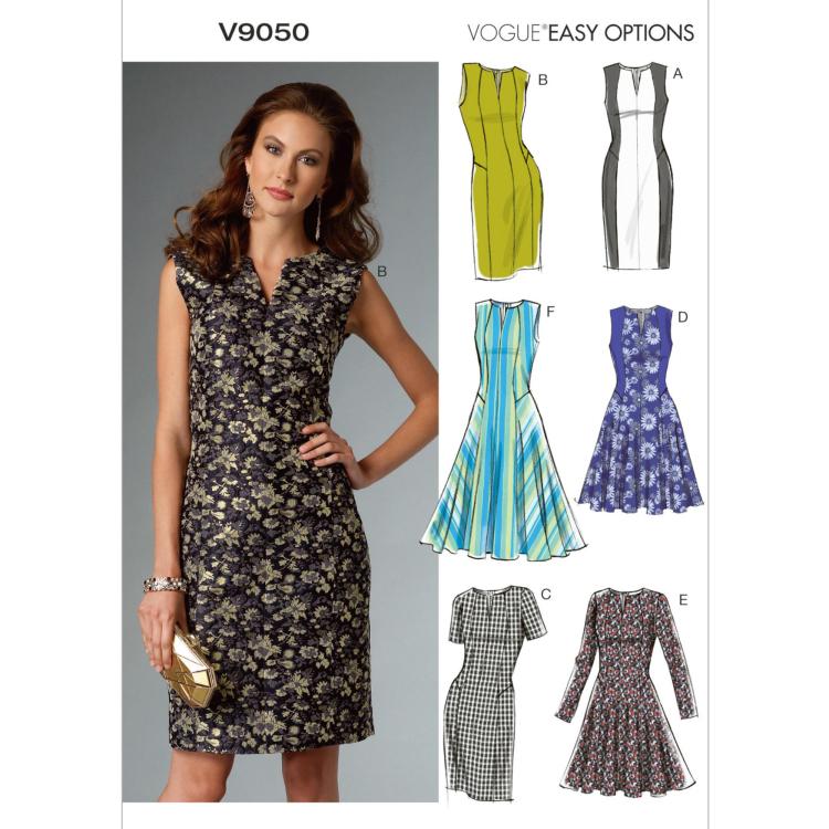 Schnittmuster Vogue 9050 Damen-Kleid | Stoffe Hemmers