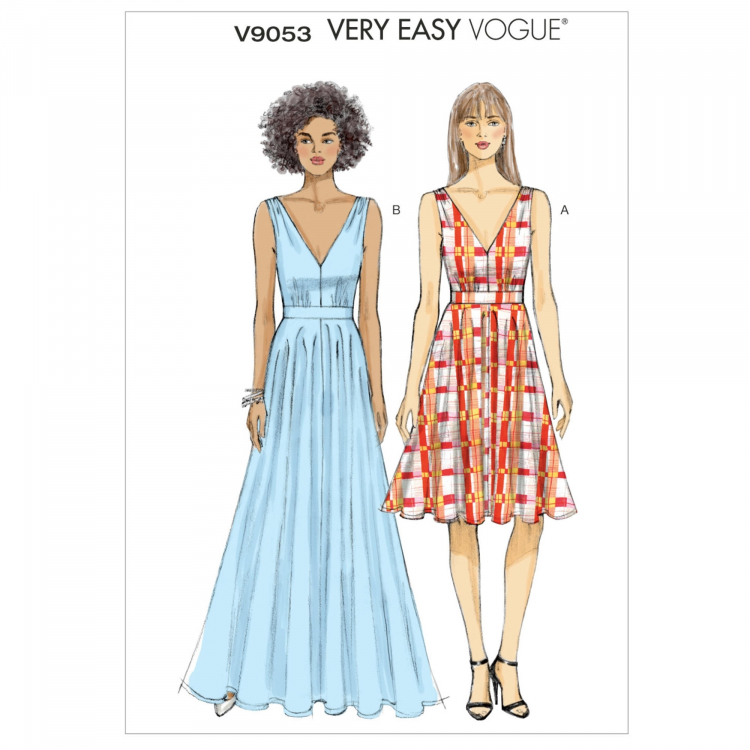 Schnittmuster Vogue 9053 Damen-Kleid | Stoffe Hemmers