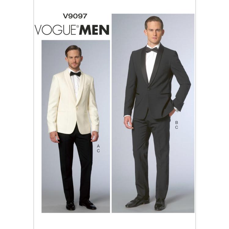Schnittmuster Vogue 9097 Männer-Jacke und Hose | Stoffe Hemmers