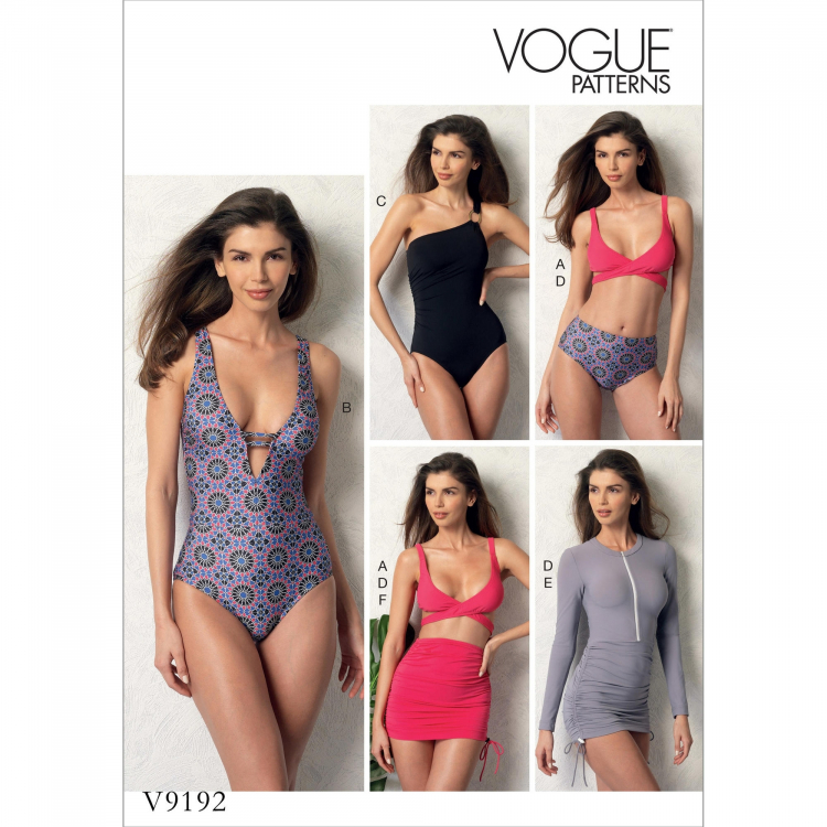 8eb4161d7a4cd Pattern Vogue 9192 Misses' Top, Swimsuit, Bottom and Cover-Up item no. V9192