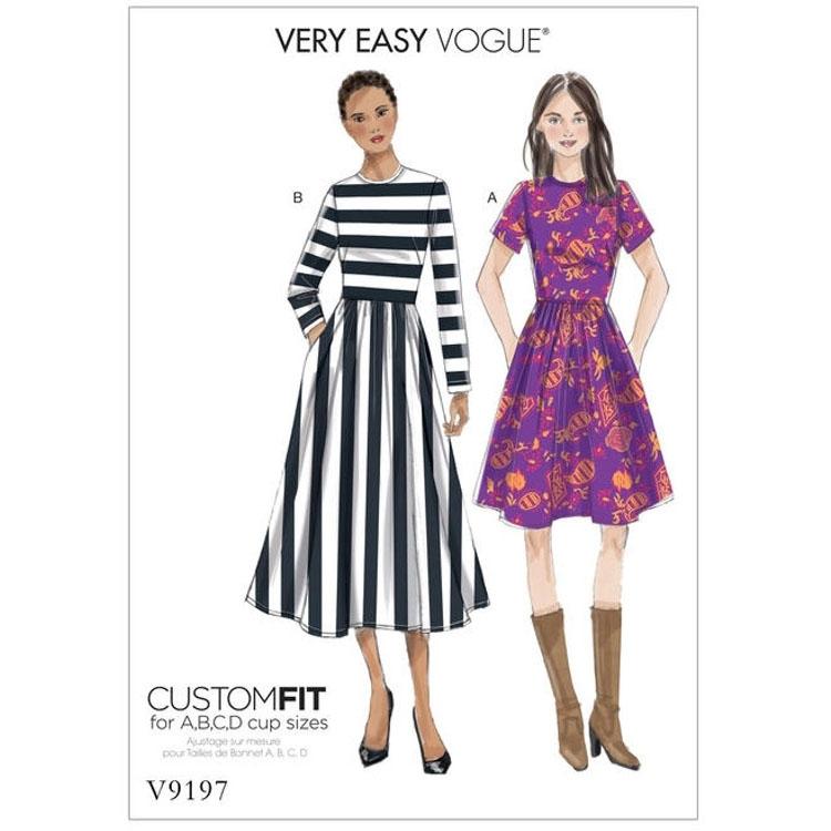Schnittmuster Vogue 9197 Damenkleid | Stoffe Hemmers