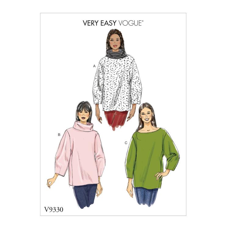 Schnittmuster Vogue 9330 Pullover | Stoffe Hemmers