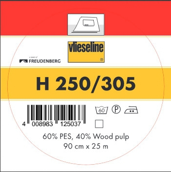 5,20 EUR//m 0,25m Bügeleinlage Vlieseline H250